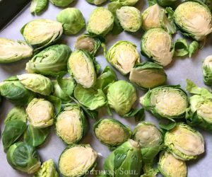 roasted brussel sprouts raw
