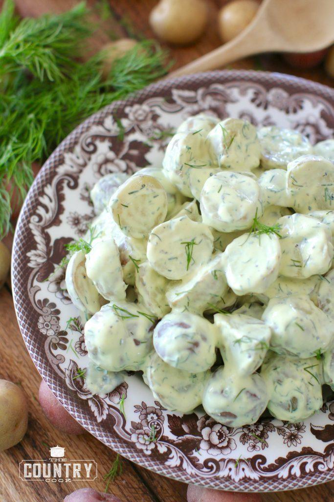 greek dill potato salad