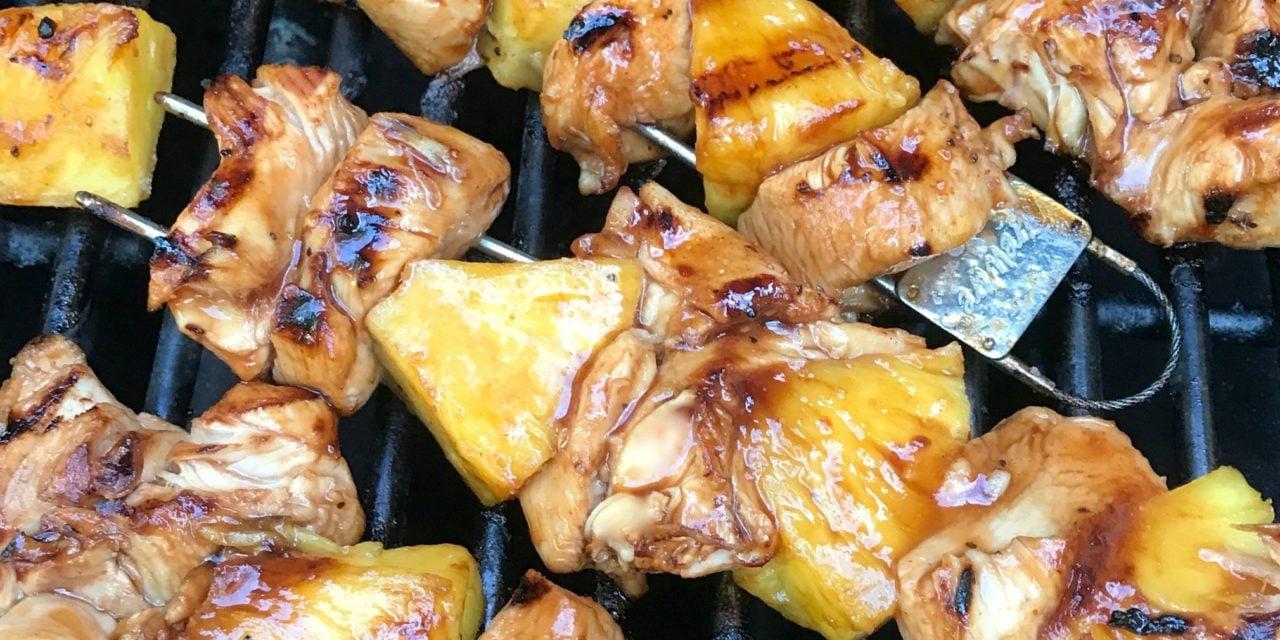 Grilled Chicken Pineapple Skewers