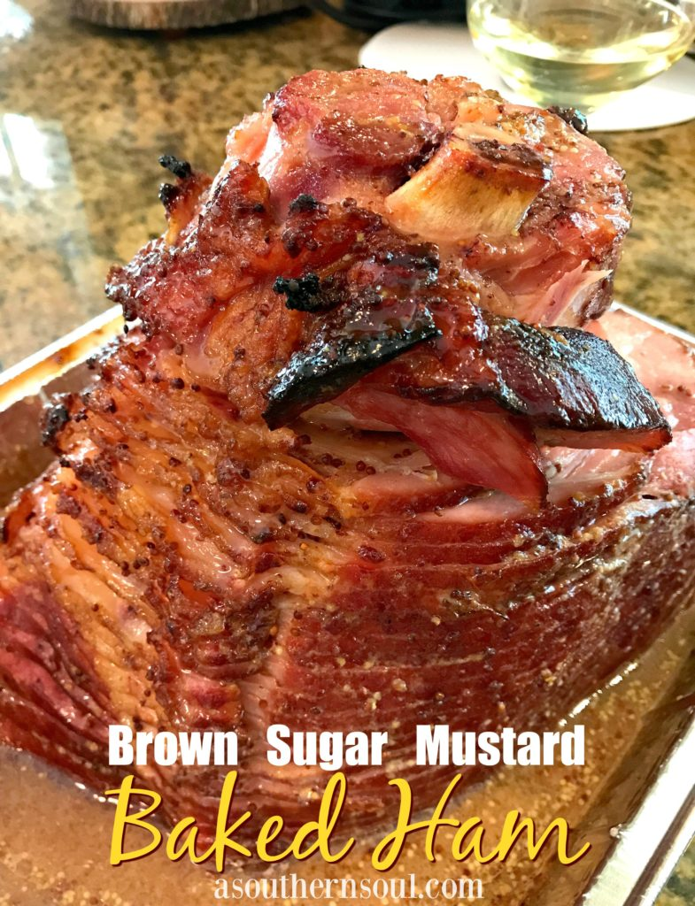 baked ham with brown sugar and mustard