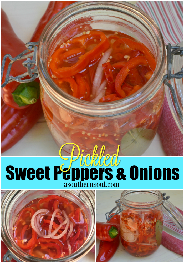 Pickled Sweet Peppers & Onions - A Southern Soul