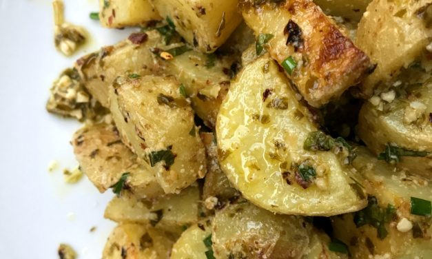 Roasted Potato Pesto Salad