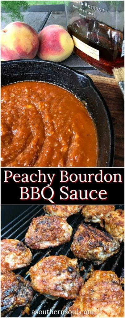 peachy bourbon BBQ sauce