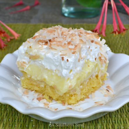 Pineapple Coconut Poke Cake