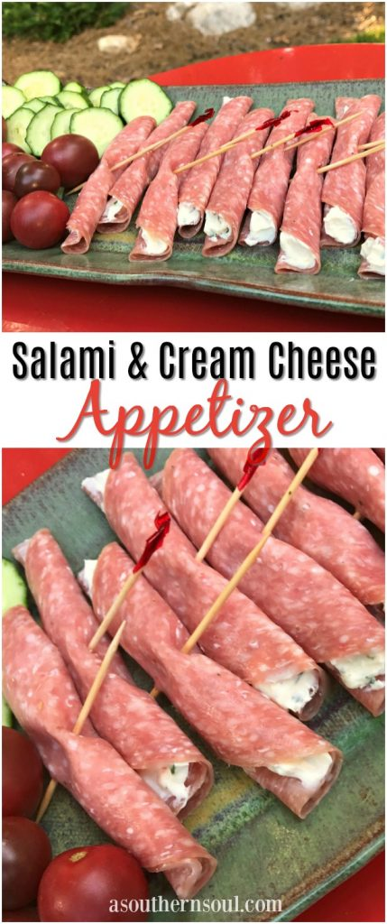 salami and cream cheese appetizer