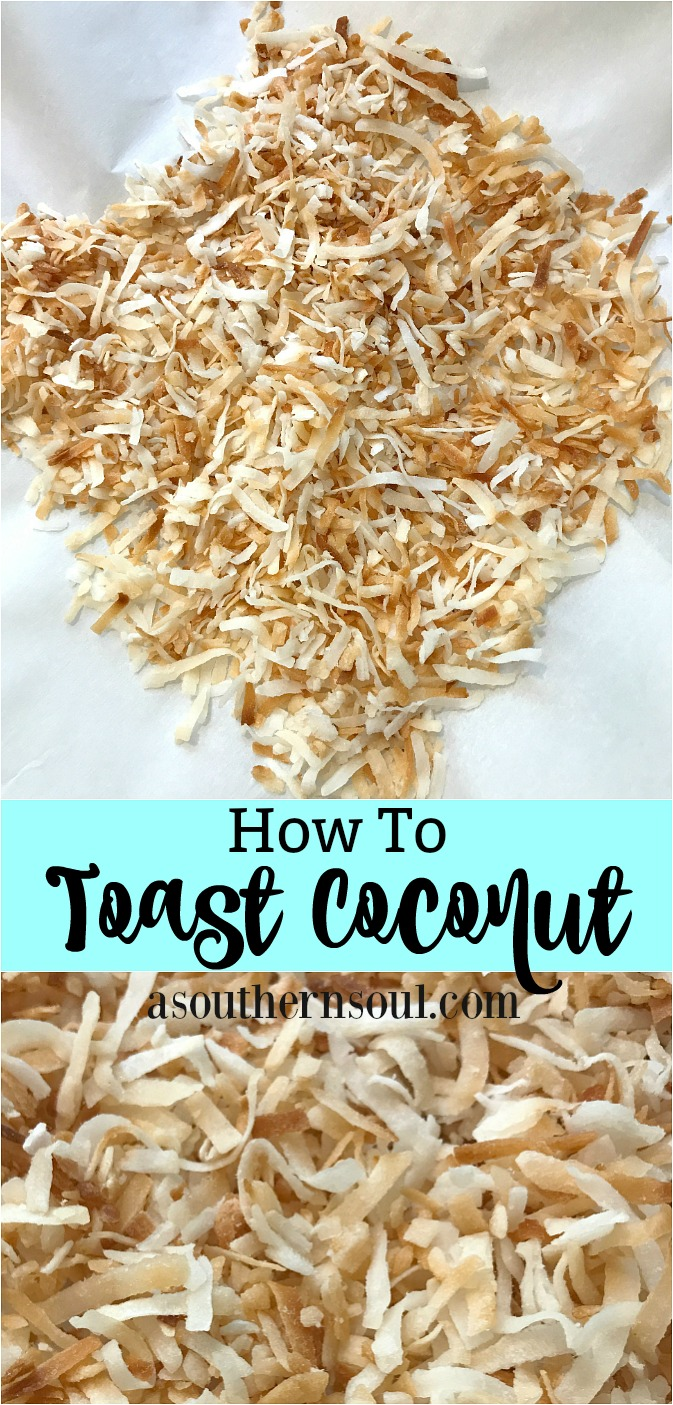 how to toast coconut on Pinterest