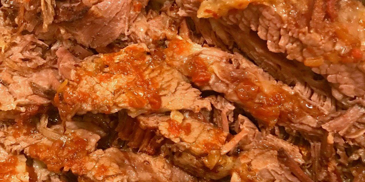 3 Ingredient Oven Cooked Beef Brisket