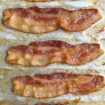oven cooked bacon on parchment