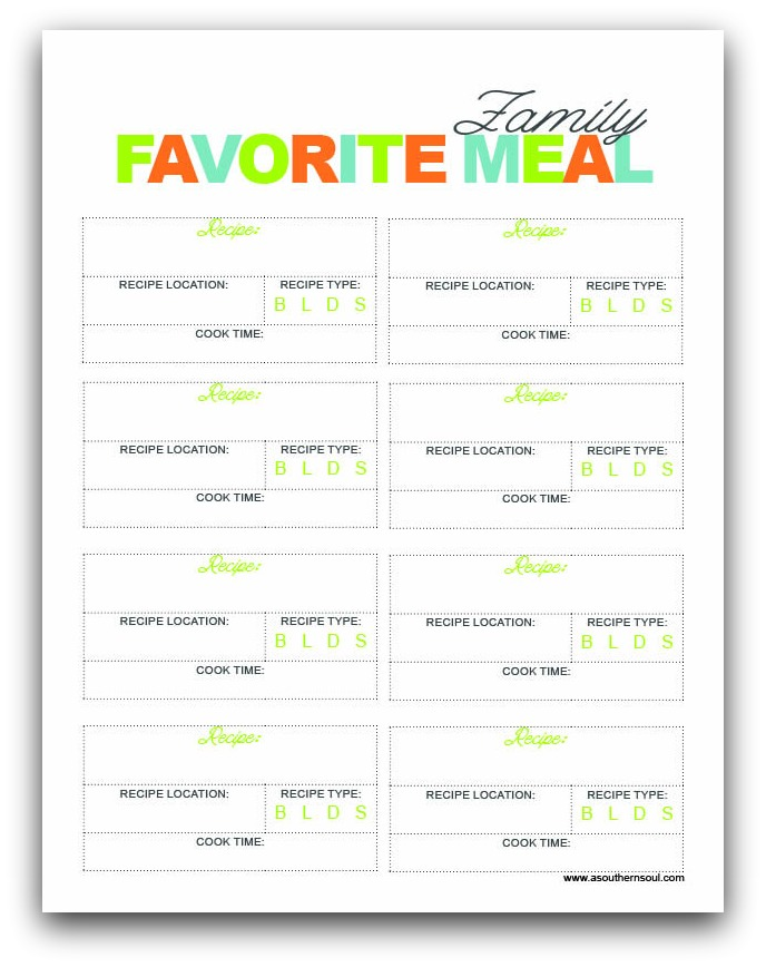 Meal Prep & Grocery Shopping • Free Printables - A ...