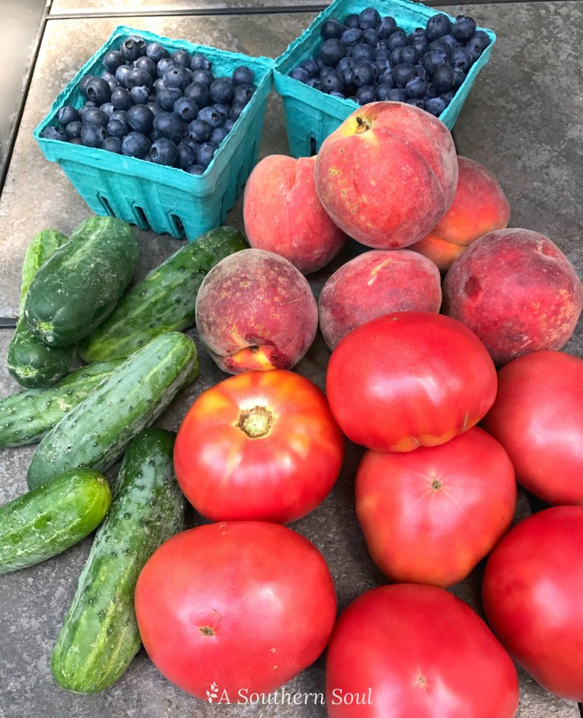 farmers market and meal planning with a southern soul