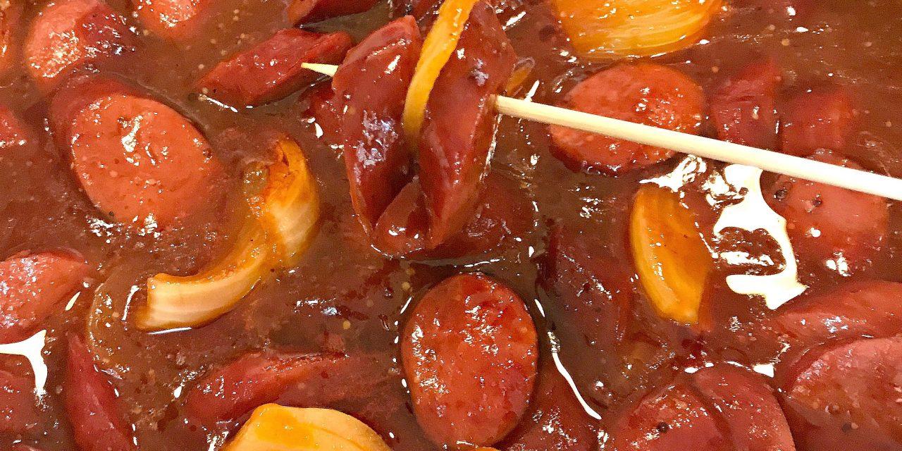 Beef Kielbasa & Onion Appetizer