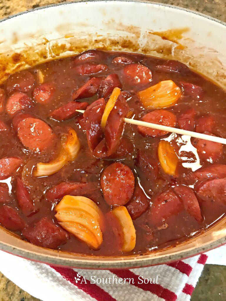 beef kielbasa skewer appetizer