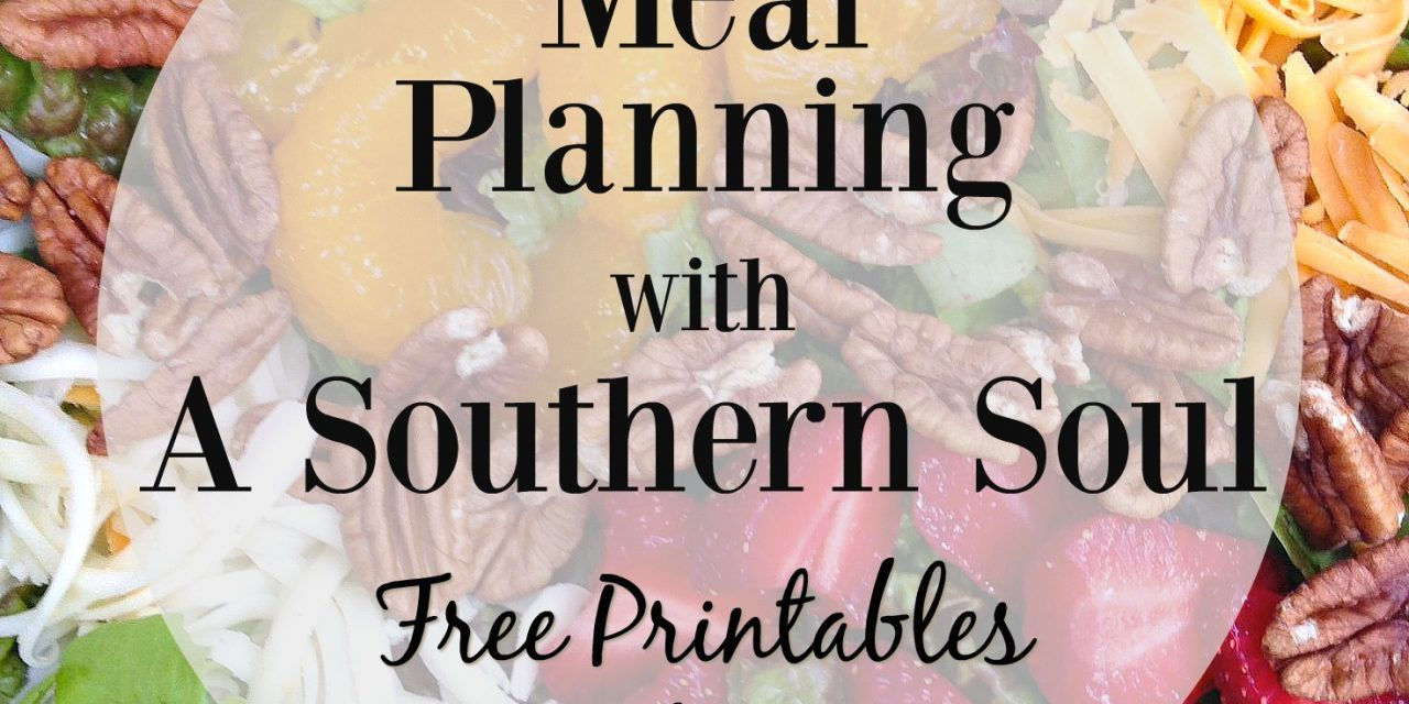 Meal Planning For Beginners • Making Your Grocery List Plus Free Printables