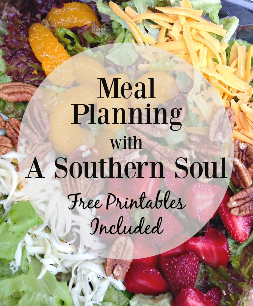 meal planning with a southern soul