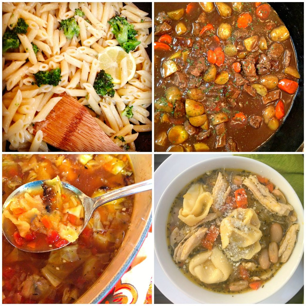 one pot dinner and meal planning