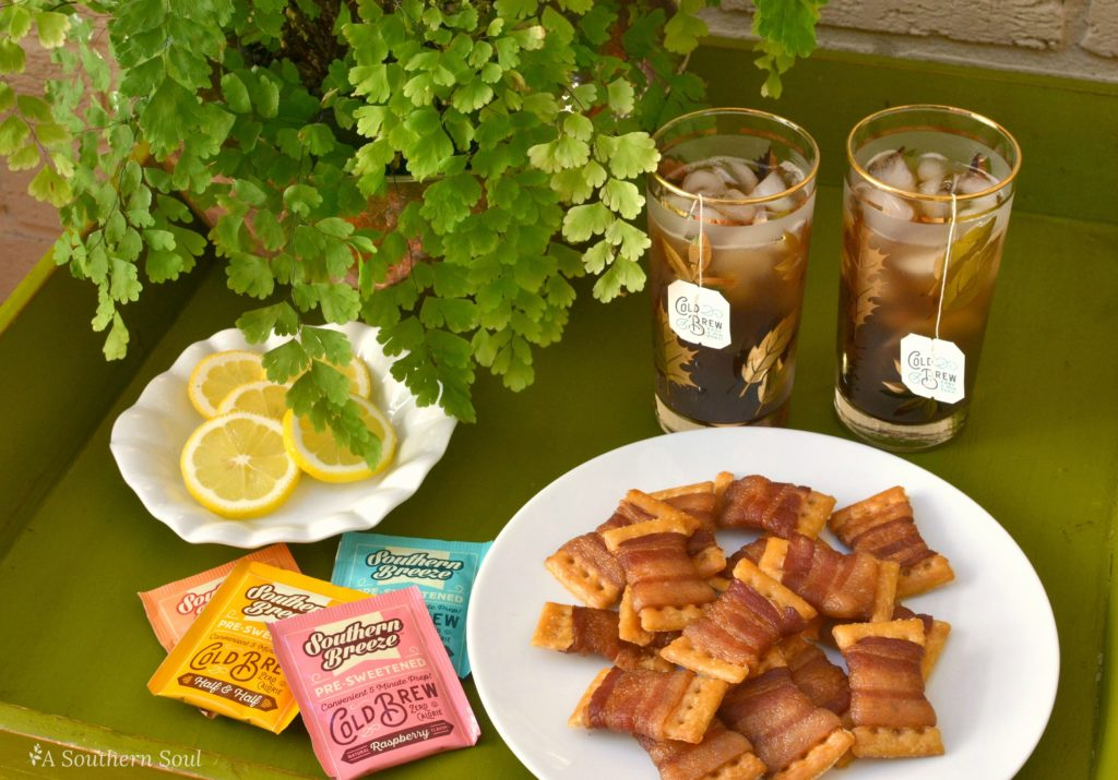 southern breeze tea and bacon bow tie crackers
