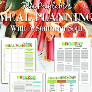 Free printables for meal planning, grocery shopping and saving your favorite family meals.