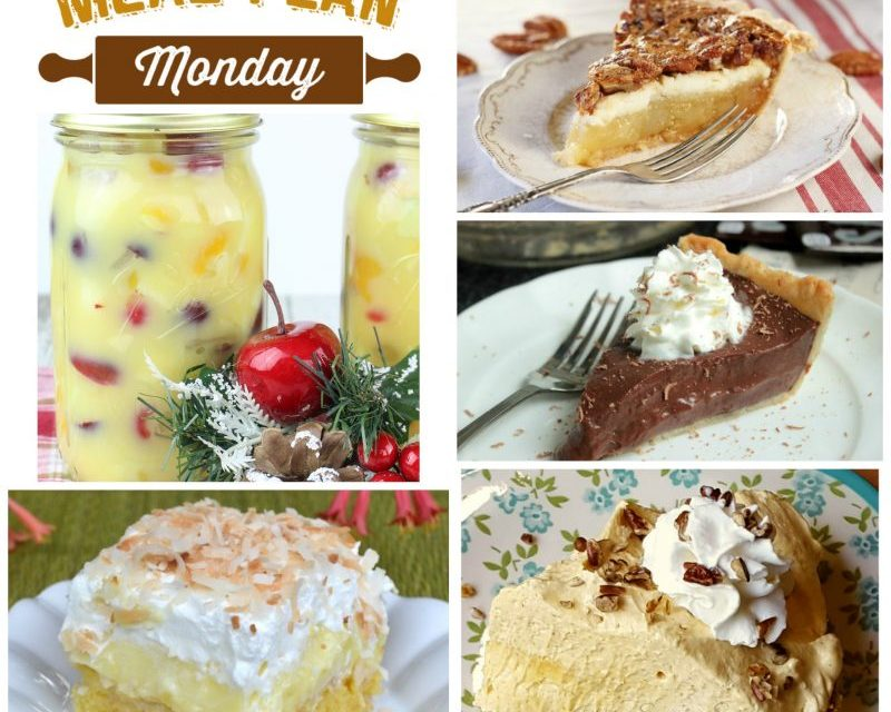 Meal Plan Monday ~ Thanksgiving Desserts