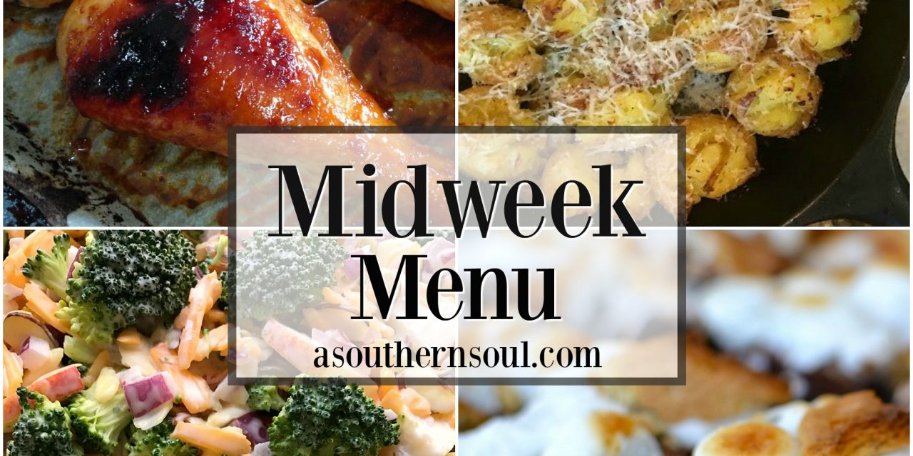 Midweek Menu ~ Orange Garlic Chicken