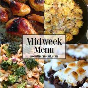 midweek menu orange garlic chicken