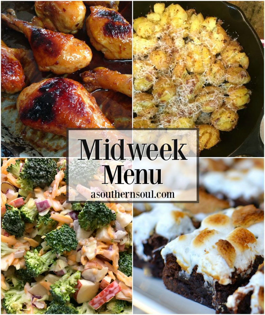 midweek menu orange garlic chicken