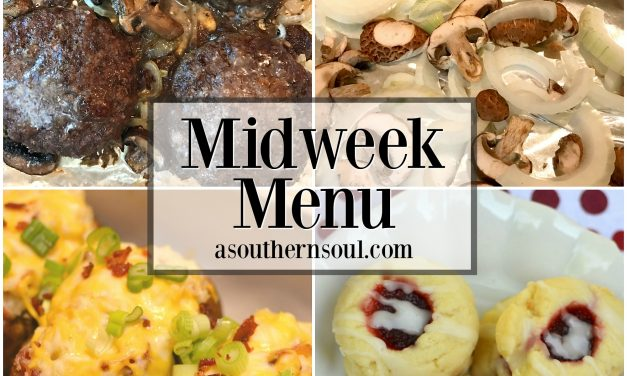 Midweek Menu #2 ~ Sheet Pan Hamburger Steak with Mushrooms & Onions