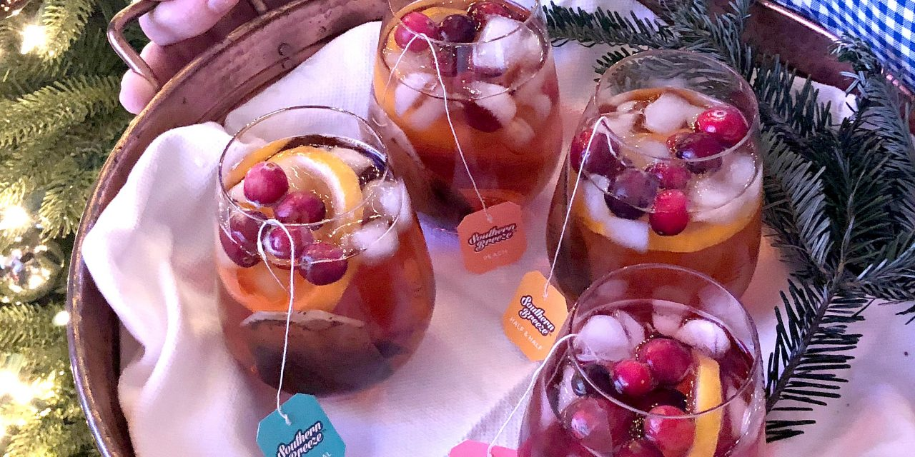 Sparkling Sweet Tea for the Holidays