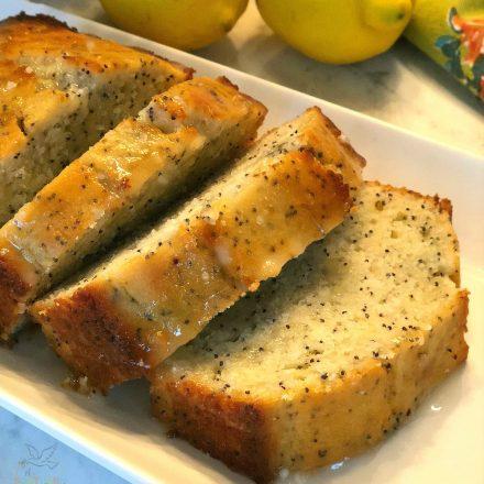 Poppy Seed Cake With Lemon Glaze