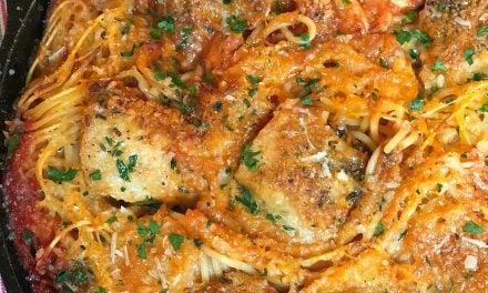 Skillet Chicken Spaghetti