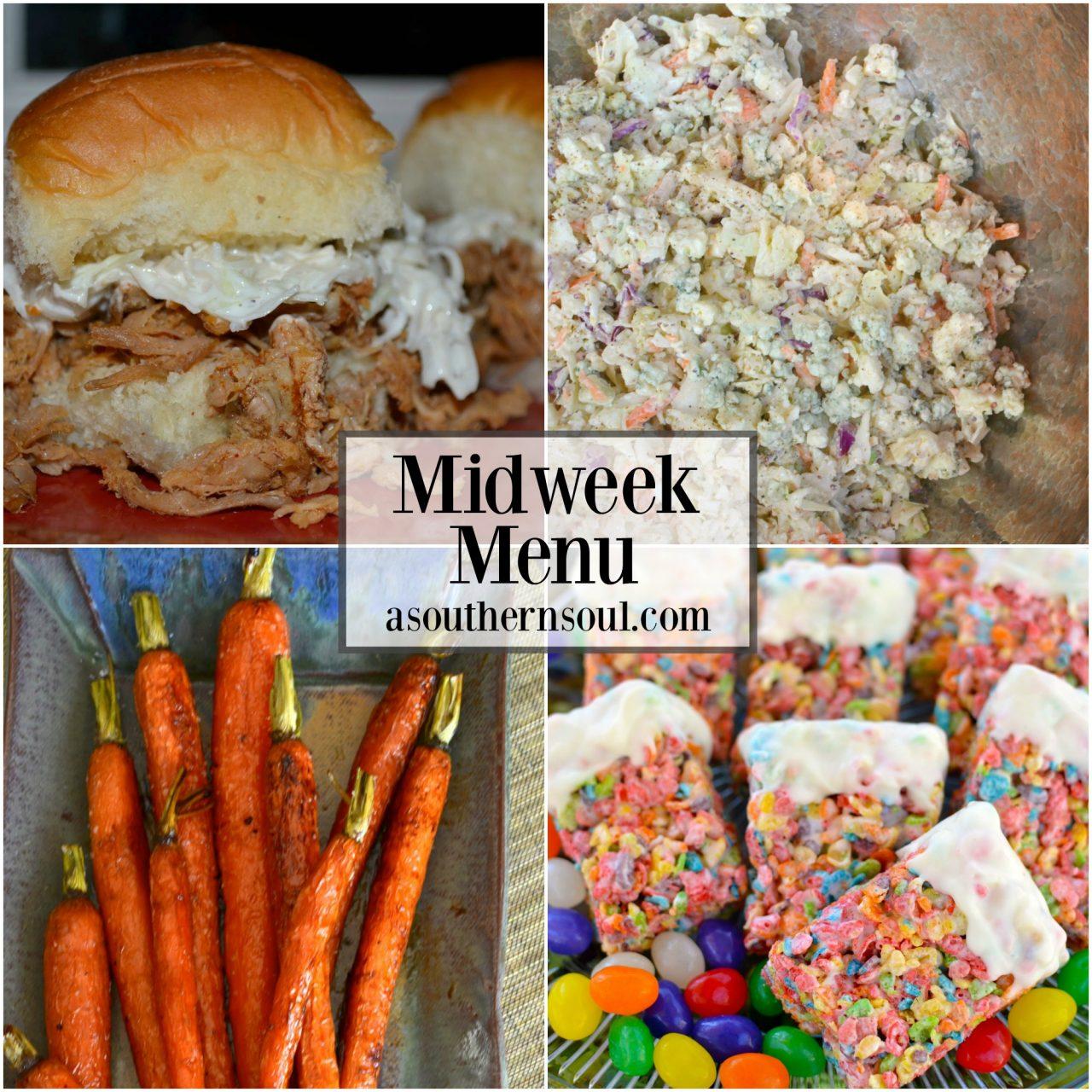 Midweek Menu #11 ~ Pulled Pork Sliders