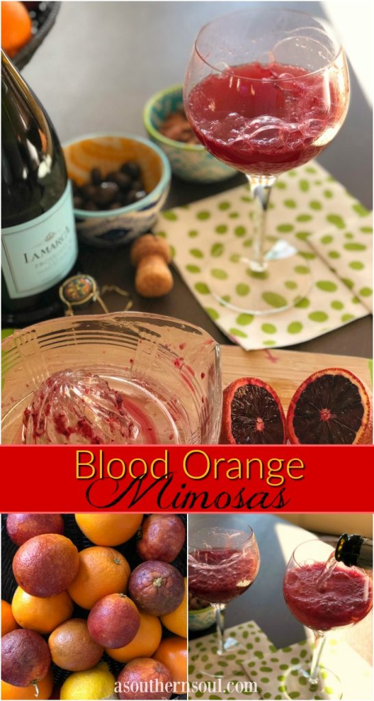 blood oranges mimosa cocktail