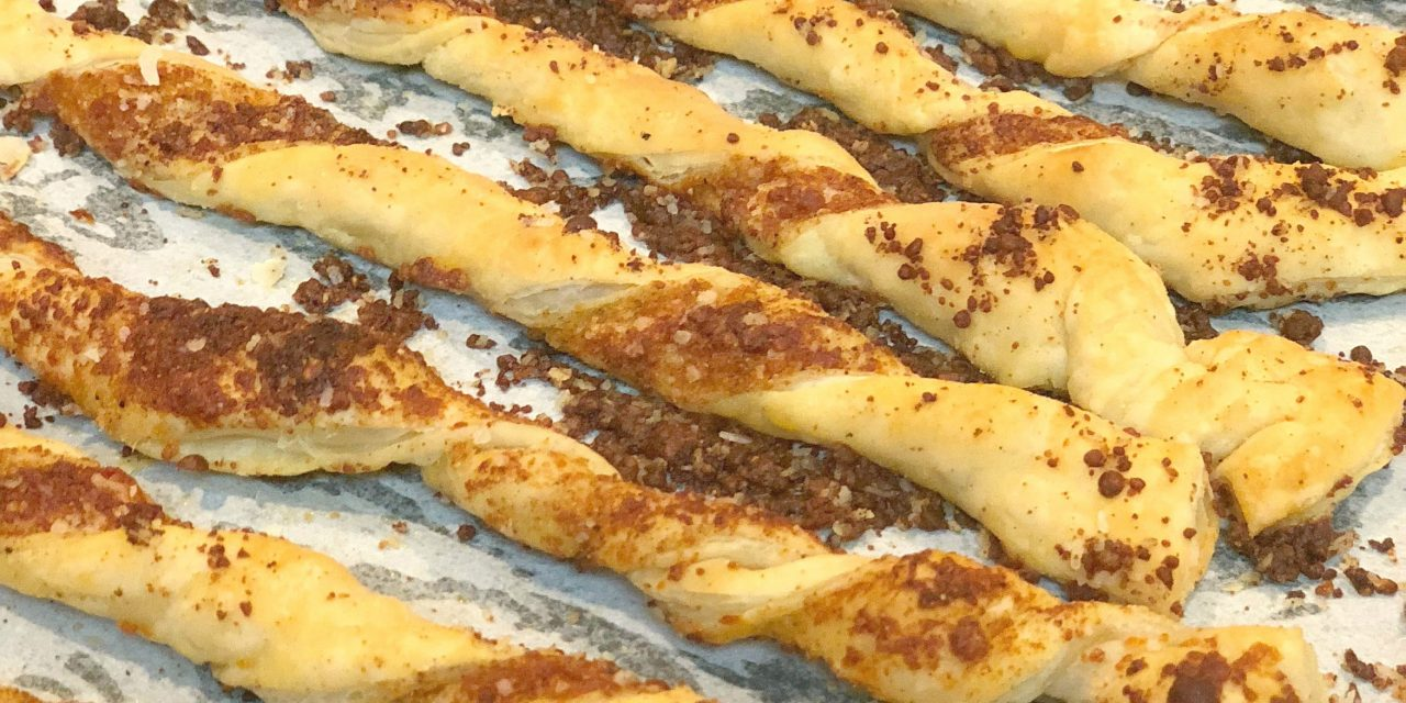 Puffed Pastry Parmesan Cheese Straws