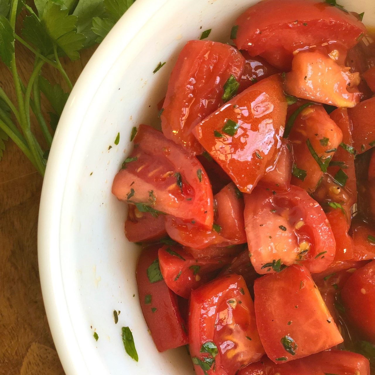 Easy Marinated Tomatoes
