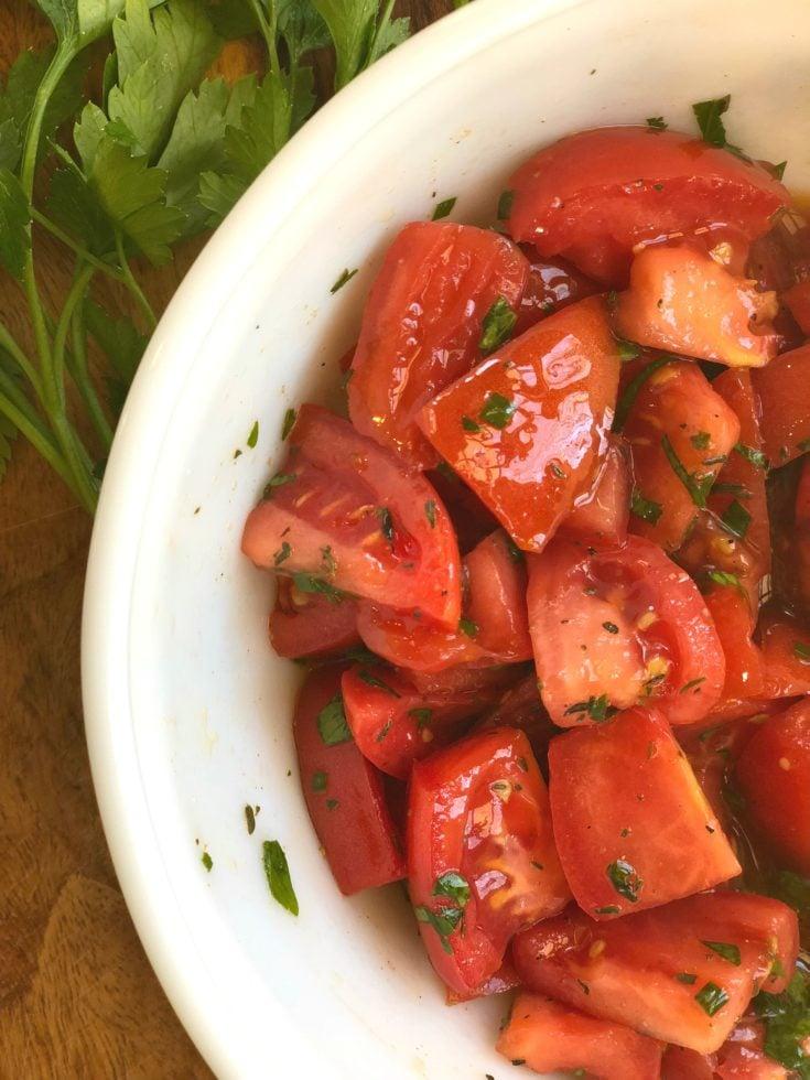 Easy Marinated Tomatoes