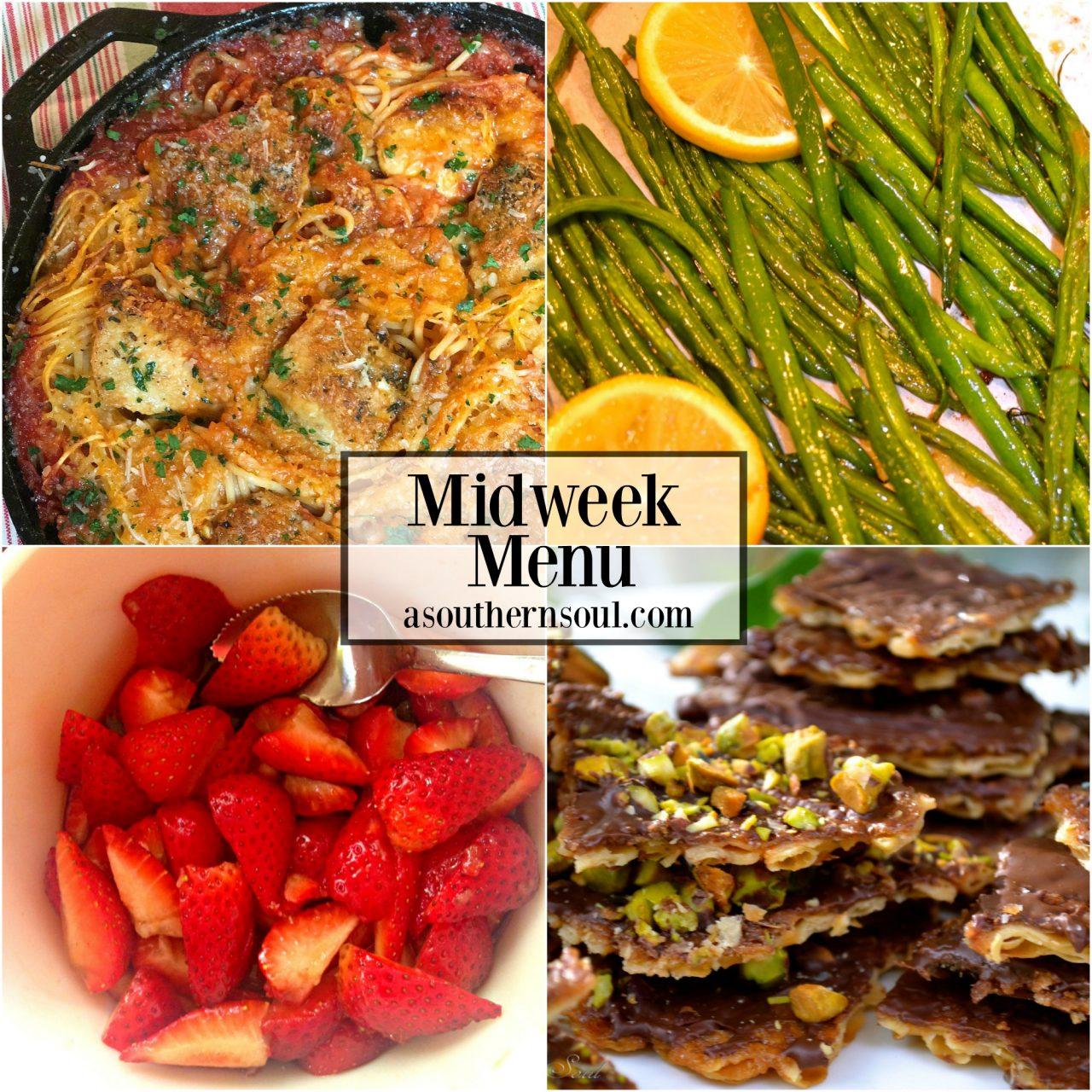 Midweek Menu #12 ~ Skillet Chicken Spaghetti