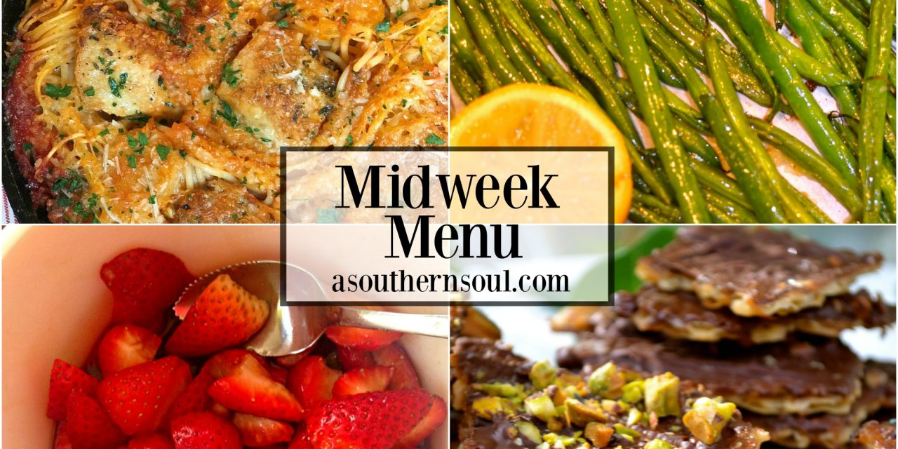 Midweek Menu #12 ~ Skillet Chicken Spaghetti