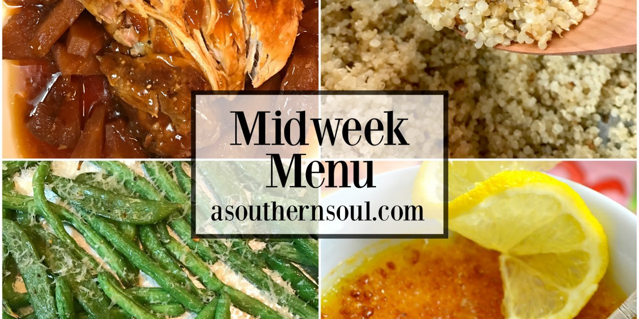 Midweek Menu #13 ~ Slow Cooker Pork Loin With Fresh Pineapple