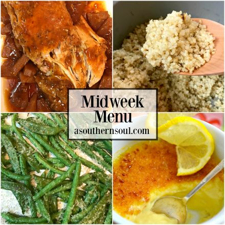 Midweek Menu #13 ~ Slow Cooker Pork Loin With Fresh Pineapple