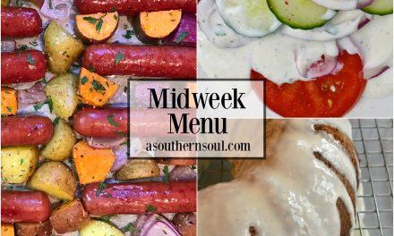 Midweek Menu #14 ~ Sheet Pan Brats & Potatoes