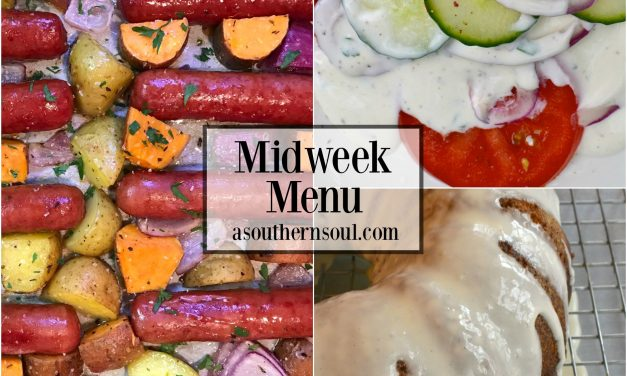 Midweek Menu #14 ~ Sheet Pan Brats & Potatoes