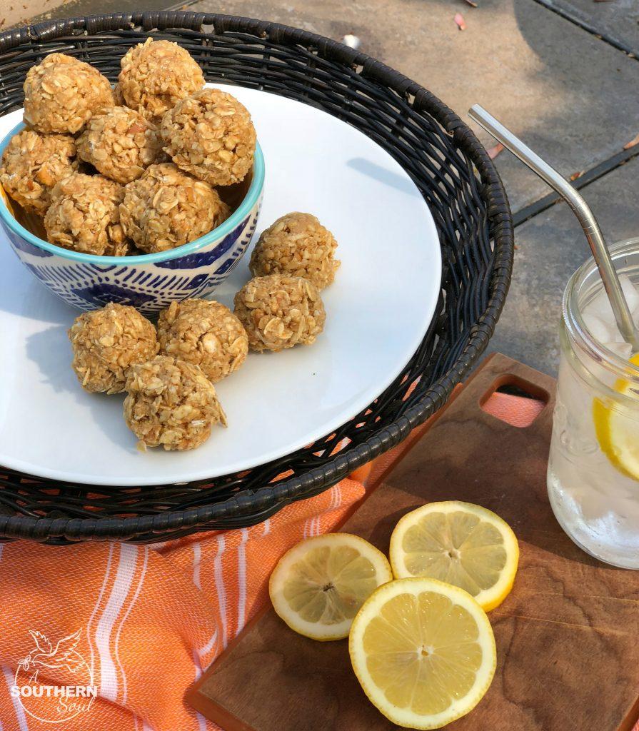 sweet & salty no-bake oatmeal bites