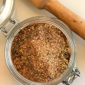 homemade montreal steak seasoning blend for meats, chicken and fish