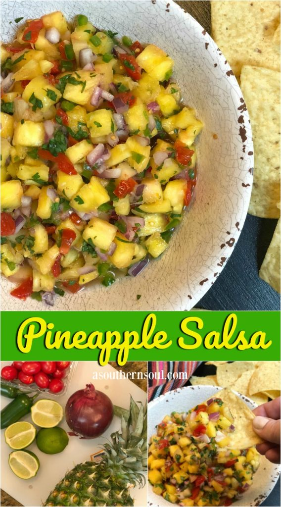pineapple salsa made with 6 ingredients in 15 minutes