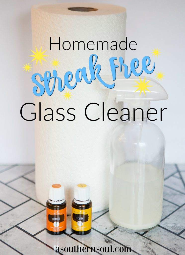 homemade streak free glass cleaner with essiential oils