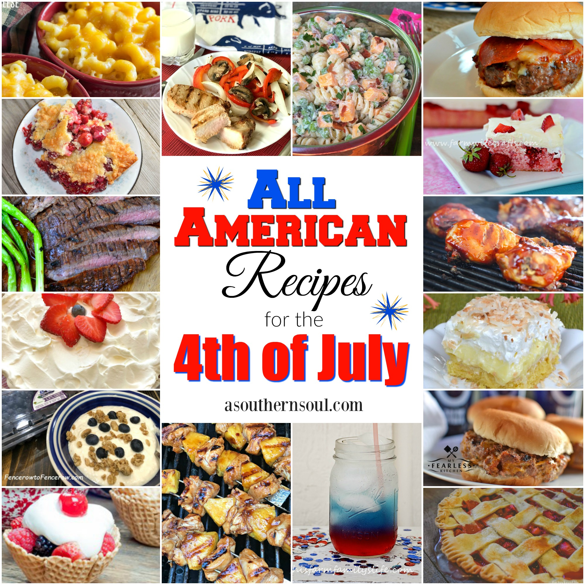 All American Recipes for the 4th of July - A Southern Soul