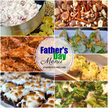 father's day menu 2018 from a southern soul