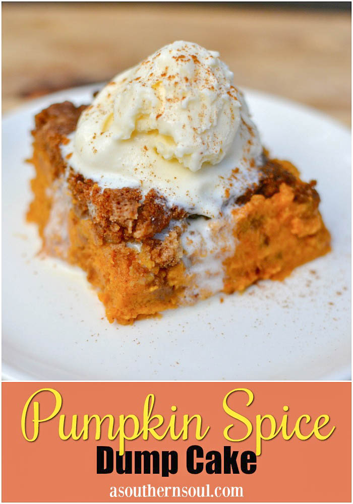 Pumpkin Spice Dump Cake may have a funny name but after just one bit you'll be impressed. Rich with fall flavors of warm spices, this easy to make cake will have everyone asking for seconds!