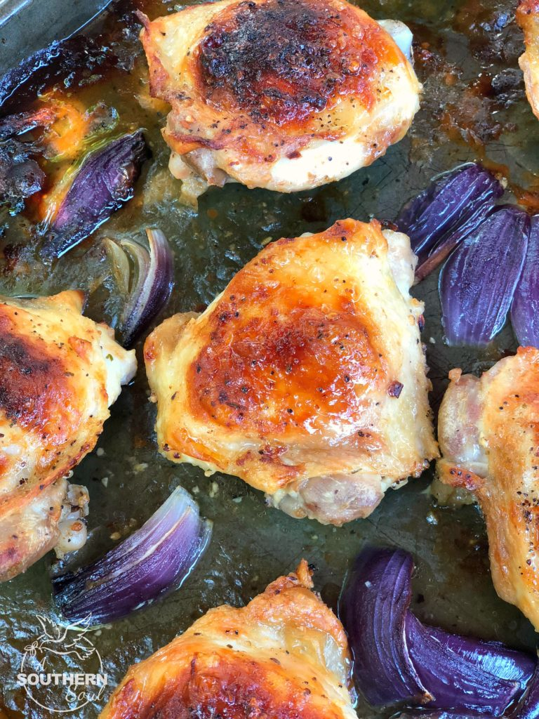Sheet pan ranch chicken thighs