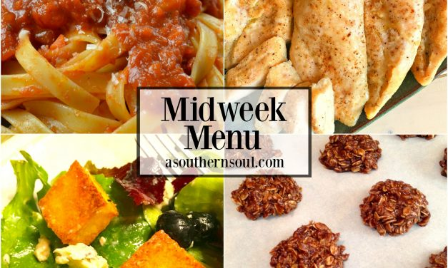 Midweek Menu #22 – Roasted Chicken with Simple Tomato Sauce & Pasta