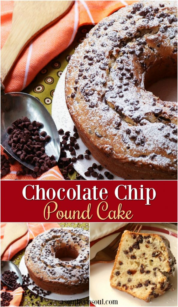 Chocolate chip pound is easy to make and full of flavor. It's dense and full of chocolate flavor and will be a hit with dessert lovers.